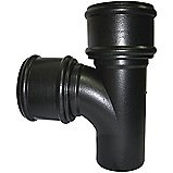 FloPlast Cast Iron Effect Soil Pipe 92.5° Double Socket Branch NO Side Bosses