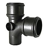 FloPlast Cast Iron Effect Soil Pipe 92.5° Double Socket Branch WITH Side Bosses
