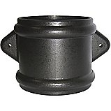 FloPlast Cast Iron Effect Soil Pipe Double Socket Coupling