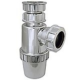 FloPlast Chrome Effect Telescopic Bottle Trap - 32mm