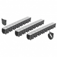FloPlast Galvanized Driveway Channel Drainage Garage Kit