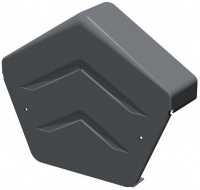 Manthorpe Linear Dry Verge Angled Ridge End Cap - Grey