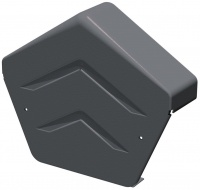 Manthorpe SmartVerge Dry Verge Angled Ridge End Cap - Grey