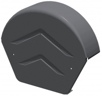 Manthorpe SmartVerge Dry Verge Half Round Ridge End Cap - Grey